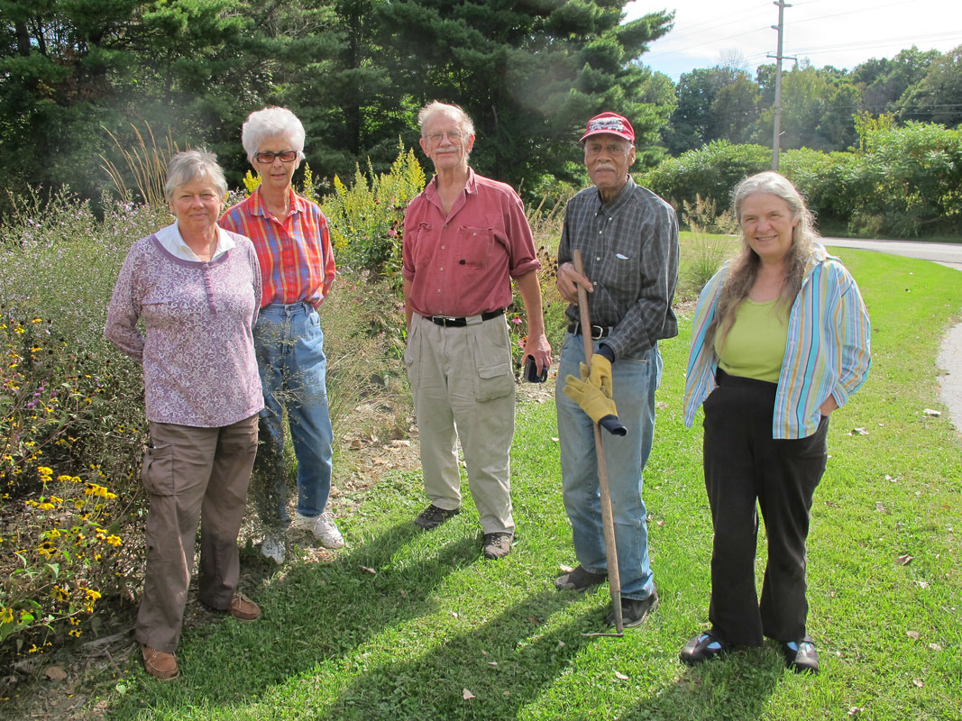 Group in front of Native Plant Garden at Meadowrbook