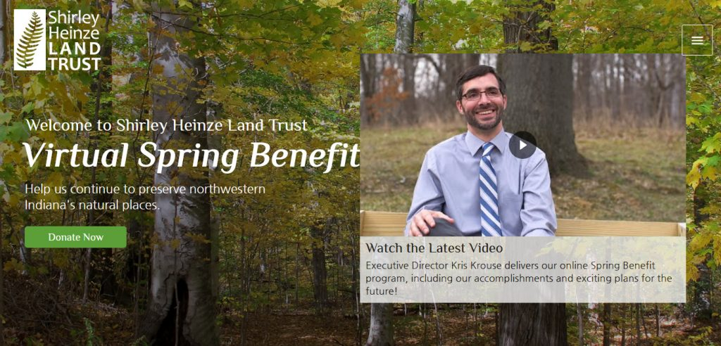screenshot of benefit landing page