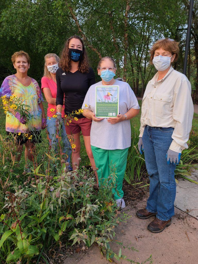 Photo of Volunteers at Keller Park Riverside Trail Garden