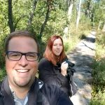 Matt Igleski and Julie Bonnema at Greiner Nature Preserve in Hobart