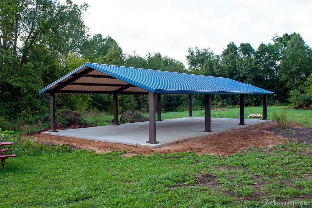photo of new pavilion at Lydick Bog Nature Preserve
