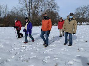 Hikers at Lydic Bog Nature Presreve